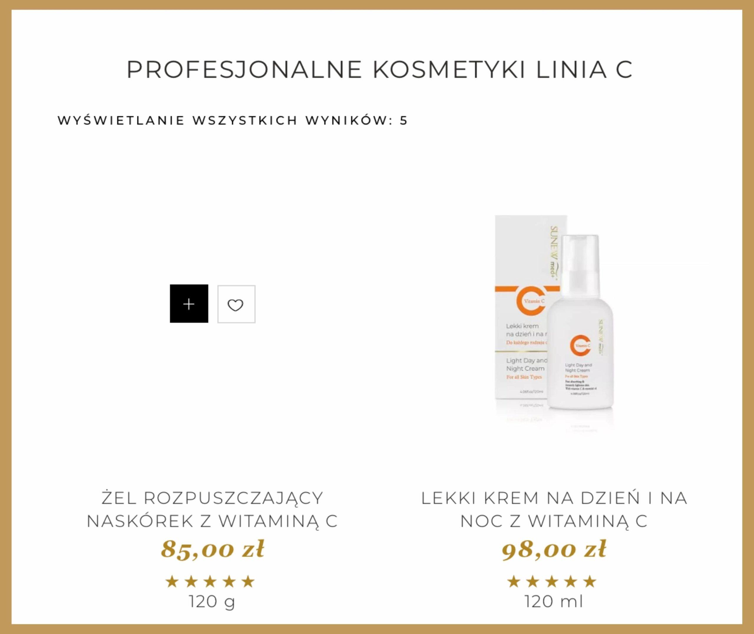 kosmetyki na stronie internetowej